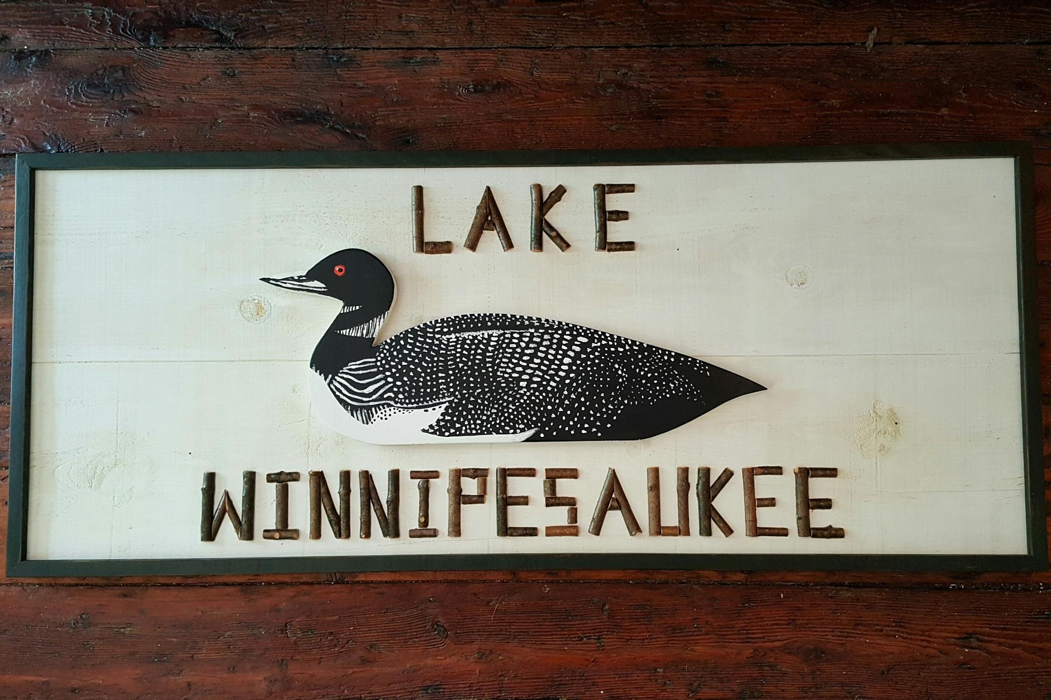 Twig Custom Loon Lake Sign