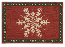 Holiday Rug at Front Door? Not really my gig...but I have friends who love them. Each year I think...oh, I need one...but really? I don't. Doesn't go with my house, my design or my real life...
