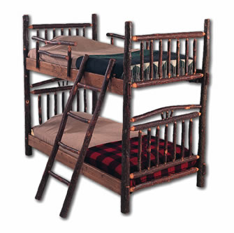 Rustic Hickory Bunk Bed