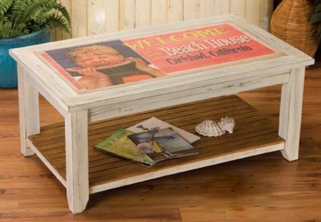 2 Weathered White Coffee Table