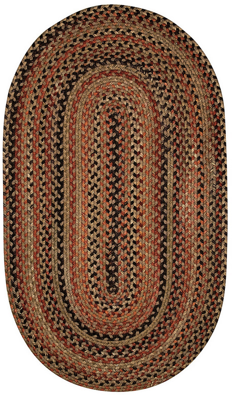 Capel Braided Rug Chestnut Brown
