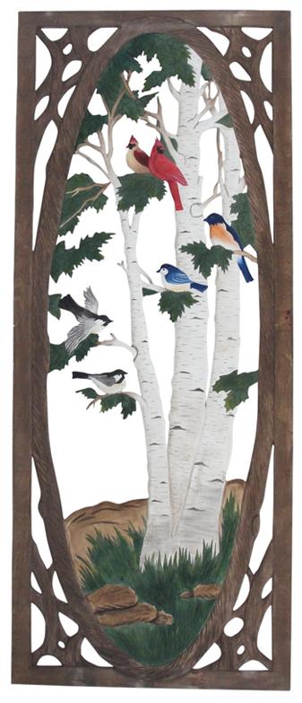 Birds And Birches Screen Door