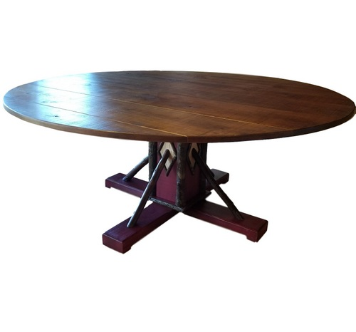 1 ROUND TABLE HICKORY BEST 001