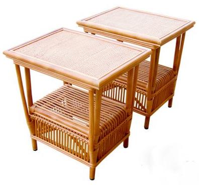 2 Rattan End Table