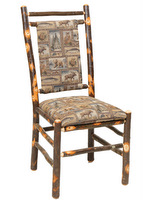 rustic log chairs and bar chairs - Old Hickory Furniture