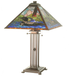 Tiffany lodge table lamps 1 loon table lamp mozeypictures Image collections