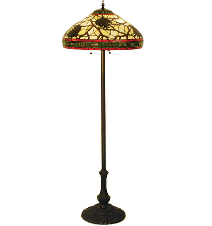 best loved f5ae6 10be3 Tiffany Pine Cone Floor Lamp