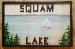 Custom Twig and Lake Painting Sign