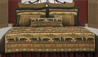 Bear Cabin Bedding Set King Size