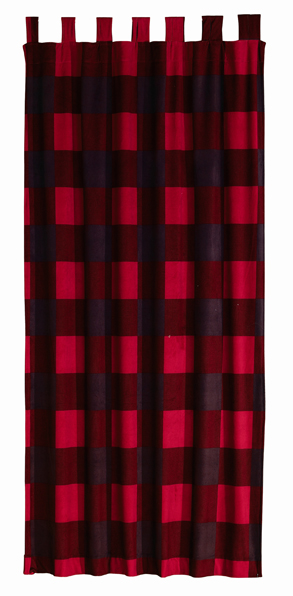 download image red and black buffalo plaid curtains pc android