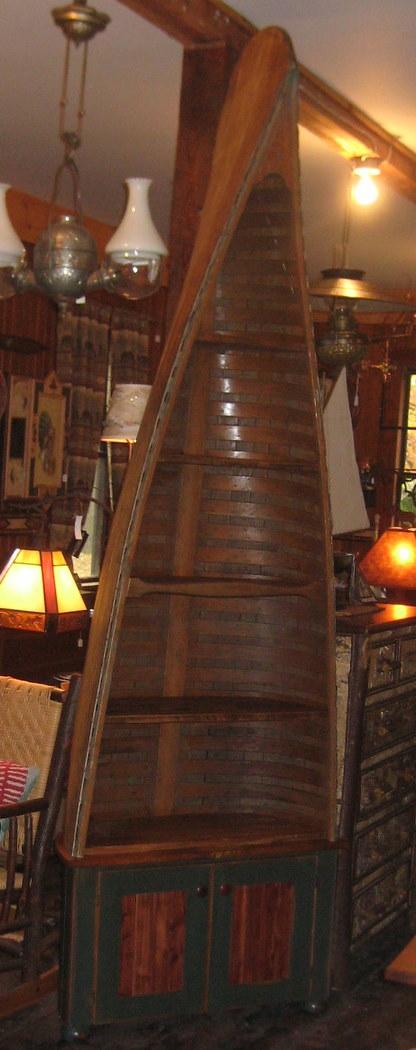 Antique Canoe Half Shelf