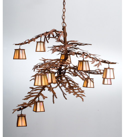 Pine tree branch chandelier – Cottage Chandeliers
