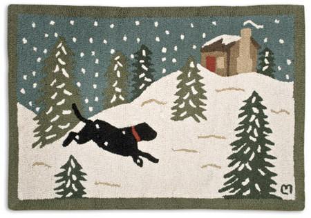 Attractive 2 965 Snow Dog Rug
